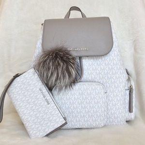 Michael Kors (3pcs) Abbey LG Cargo Backpack